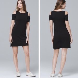 NWT WHBM Cold Shoulder Black Sneaker Dress Size M
